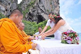 Buddhist thai ceremony